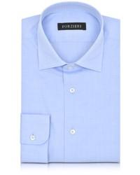 Camicia elegante a quadri azzurra
