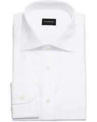 Camicia elegante a quadri bianca