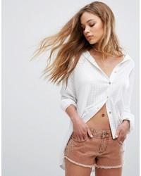 Camicia elegante a quadri bianca di RVCA