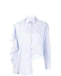 Camicia elegante a righe verticali azzurra di EACH X OTHER