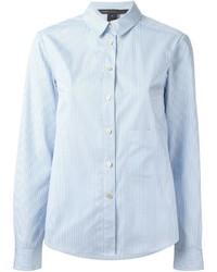 Camicia elegante a righe verticali azzurra di Marc by Marc Jacobs