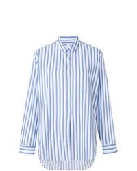 Camicia elegante a righe verticali azzurra di Ps By Paul Smith