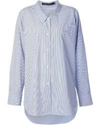 Camicia elegante a righe verticali azzurra di Sofie D'hoore