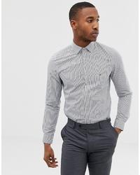 Camicia elegante a righe verticali bianca e blu scuro di Calvin Klein