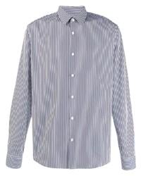 Camicia elegante a righe verticali bianca e blu scuro di Sandro Paris