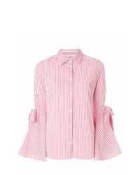 outlet store sale c4a9b 22b8f Camicie eleganti a righe verticali bianche e rosse da donna ...