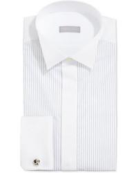 Camicia elegante a righe verticali bianca
