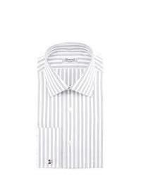 Camicia elegante a righe verticali grigia