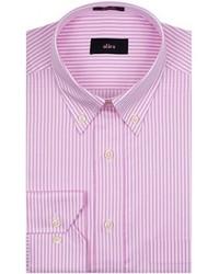 Camicia elegante a righe verticali rosa