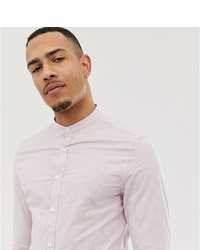Camicia elegante a righe verticali rosa di ASOS DESIGN