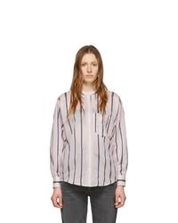 Camicia elegante a righe verticali rosa di Isabel Marant Etoile