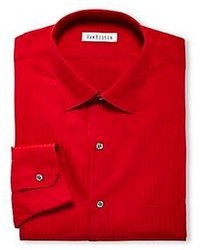 Camicia elegante a righe verticali rossa
