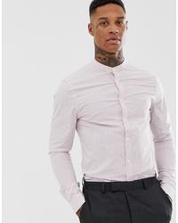 Camicia elegante a righe verticali viola chiaro di ASOS DESIGN