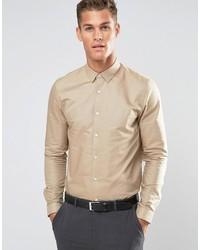 Camicia elegante beige di Asos