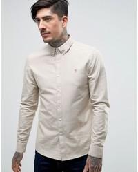 Camicia elegante beige di Farah