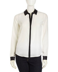 Camicia elegante bianca e nera