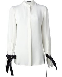 Camicia elegante bianca e nera di Alexander McQueen