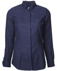 Camicia elegante blu scuro
