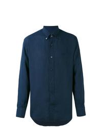 Camicia elegante blu scuro di Salvatore Ferragamo