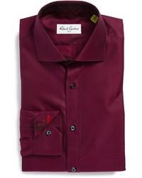 Camicia elegante bordeaux