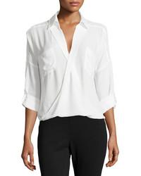 Camicia elegante di chiffon bianca