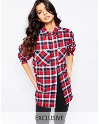 newest b215f 0f56d Camicie eleganti di flanella a quadri rosse da donna | Moda ...