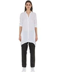 Camicia elegante di lino bianca