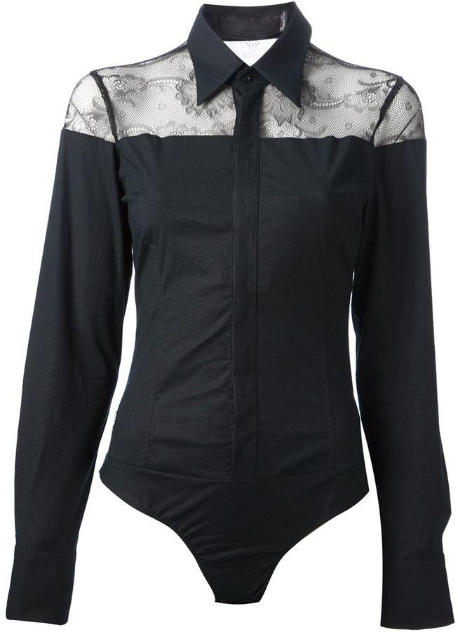 premium selection 5853e 350ee Camicia elegante di pizzo nera e bianca di Philipp Plein