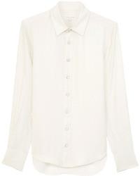 Camicia elegante di seta bianca