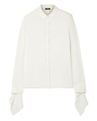 Camicia elegante di seta bianca di Akris