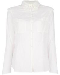 Camicia elegante di seta bianca di And A
