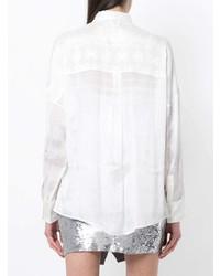Camicia elegante di seta bianca di IRO