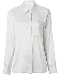 Camicia elegante di seta bianca di Jil Sander