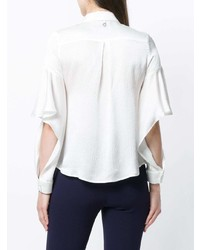 Camicia elegante di seta bianca di L'Autre Chose