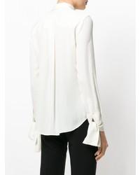 Camicia elegante di seta bianca di Theory