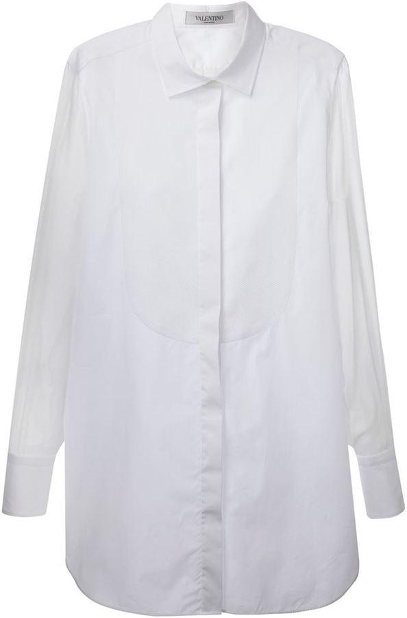 design senza tempo f38ff 8f8cd Camicia elegante di seta bianca di Valentino