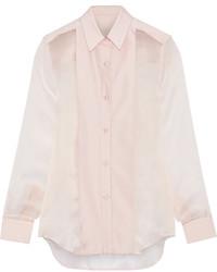Camicia elegante di seta rosa