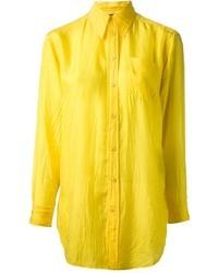 Camicia elegante gialla