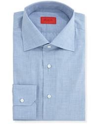 Camicia elegante in chambray azzurra