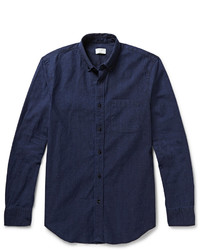 Camicia elegante in chambray blu scuro