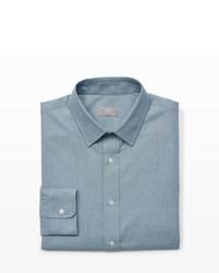Camicia elegante in chambray grigia