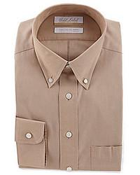 Camicia elegante marrone chiaro
