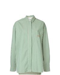 Camicia elegante ricamata verde menta di Walk Of Shame