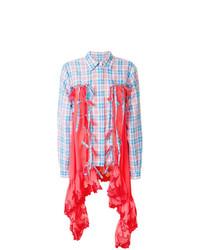 Camicia elegante scozzese acqua di Marco De Vincenzo