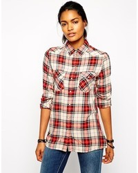 outlet store 6573a 697e4 Camicie eleganti scozzesi bianche e rosse da donna | Moda ...