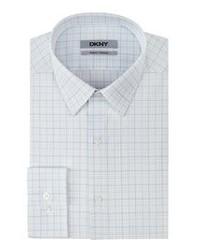 Camicia elegante scozzese bianca