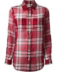 Camicia elegante scozzese rossa di MICHAEL Michael Kors