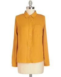 Camicia elegante senape