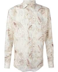 Camicia elegante stampata beige di Etro