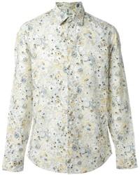 Camicia elegante stampata beige di Kenzo